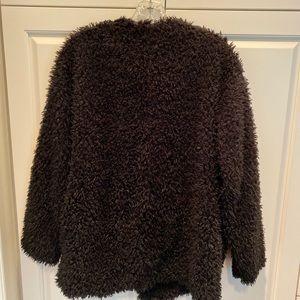 Elodie Black Sherpa Faux Fur jacket sz Med comfy!